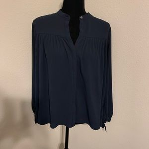 Abercrombie & Fitch Blue Tie Sleeve Blouse